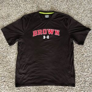 Under Armour Loose HearGear Brown University tee